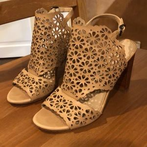 Via Spiga Lattice Cut  Chunky Heels